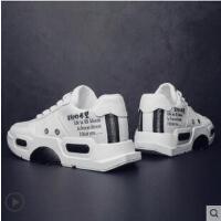 男鞋子韩版潮流百搭帆布鞋运动休闲鞋潮鞋白色纯色小白鞋