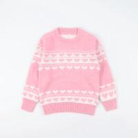 女大童毛衣儿童羊绒衫圣诞双层加厚保暖打底衫女宝宝针织羊毛衫