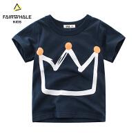 【2件3折折后到手价48.3】马克华菲童装男童T恤2019夏新款儿童纯棉韩版洋气短袖上衣洋气潮