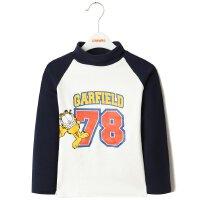 【��^49元2件】加菲�童�b中性半高�I�L袖T恤GUW17543
