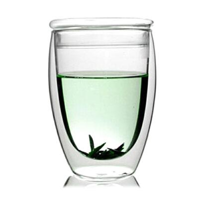 20191213055536162大号双层杯带盖玻璃杯子360ML果汁饮料杯开水杯家用凉水杯耐热高温玻璃杯花茶杯子水杯