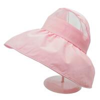 太阳帽女户外夏天帽子遮阳帽防折叠沙滩帽