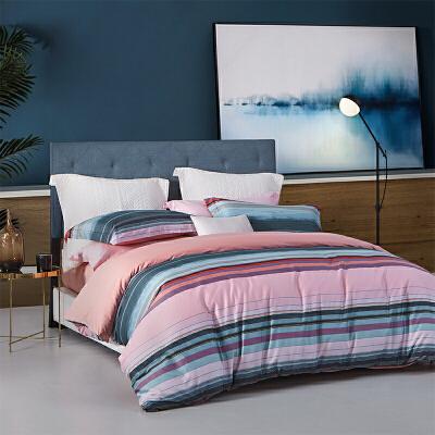 LOVO家纺 全棉60支北欧纯棉四件套床上用品高支套件1.5/1.8m床 瓦兰河之歌