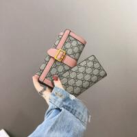 ?钱包女长款薄2018新款时尚卡包折叠子母零钱包手包欧美复古软皮夹?