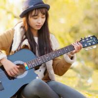 38寸吉他初学者入门新手练习民谣木吉他男女学生乐器jita