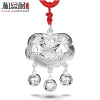 相思树 长命锁 宝宝项链 纯银平安锁 麒麟送子宝宝银饰品 儿童BBXL006