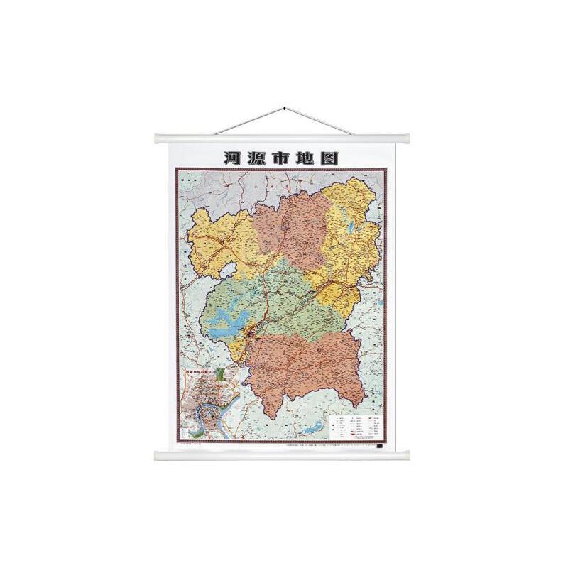 【】河源市地图新版广东省河源地图1.1米*1.