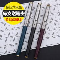 总厂正品英雄329钢笔学生用练字书写0.38mm特细笔尖经典铱金钢笔