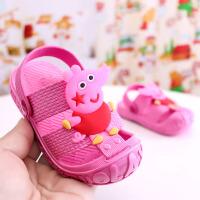 卡通可爱宝宝儿童拖鞋夏季男女小童室内软底洗澡防滑凉拖鞋