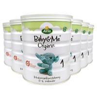 【6罐装】丹麦进口 Arla(阿拉) Baby&Me宝贝与我 有机婴幼儿配方奶粉 1段(0-6月) 600g/罐*6罐