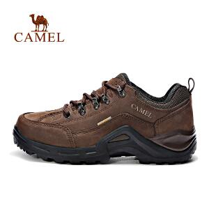 camel骆驼户外徒步鞋 男款磨砂皮防滑徒步鞋