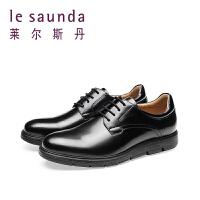 【全场3折】莱尔斯丹 新款商务休闲系带男鞋9MM43907