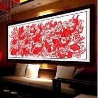印花十字绣富贵有余剪纸新款 年年有余十字绣大幅鱼客厅喜庆2米