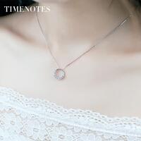 银项链女925银锁骨链韩版小巧甜美纯饰品短款首饰