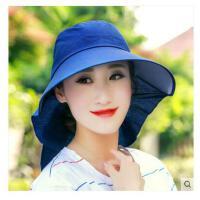 女款 遮阳帽女大 沿防紫外线防晒帽 太阳帽折叠骑车沙滩帽