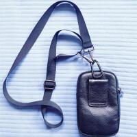 男士手机腰包男穿皮带多功能包4-6寸竖款手机包男士腰包斜跨 +肩带