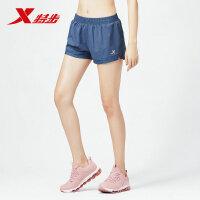特步女子运动短裤2019新品透气运动健身舒适运动女装运动裤881228679120