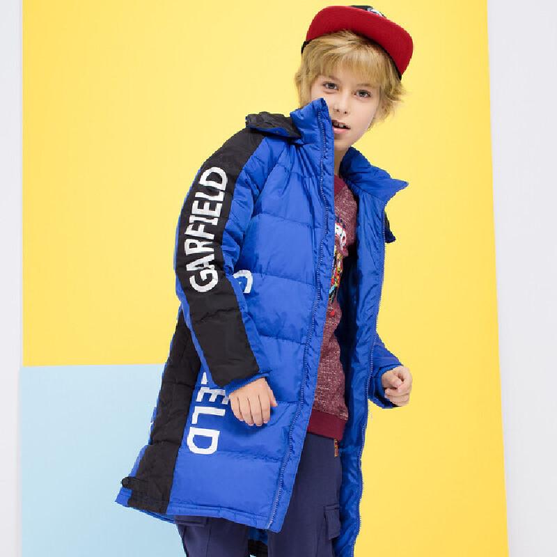 加菲猫男女童羽绒服中大童外套中性款GJD17379 颜色区分男童女童