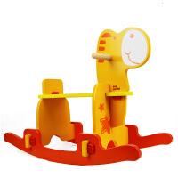 木玩世家宝宝快乐玩具安全木马快速易拼装结实摇马包邮