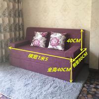 小户型懒人沙发床榻榻米双人可拆洗午休躺椅折叠卧室客厅小沙发 1米5宽加高加长版颜色备注 绒布现货,不上楼