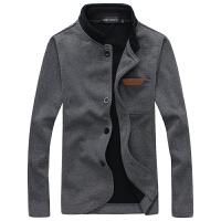 新款男士 皮标卫衣 百搭开衫 男简约外套 立领外套