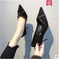 �W�t高跟鞋女春新款�\口尖�^�涡�子�n版百搭OL��I女鞋�跟鞋