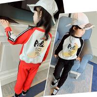 女童运动套装2018新款韩版儿童中大童装春秋款长袖卫衣春装两件套