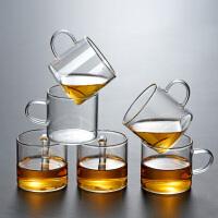 光一玻璃杯茶具功夫水杯带把小茶杯有手柄杯子套装家用喝水品茗