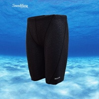 新款游泳裤男士长五分泳衣比赛防水仿鲨鱼皮温泉沙滩速干竞速