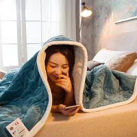 君别双层毛毯被子加厚珊瑚绒毯子冬季保暖床单法兰绒单人双人学生宿舍 200*230cm(双人毯超柔 )