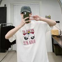 夏季ins潮牌T恤男生宽松日系纯棉五分情侣短袖男韩版潮流半袖体恤
