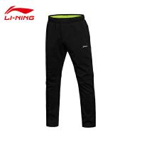 李宁卫裤男士训练系列长裤保暖防泼水加厚直筒针织运动裤AKLL541