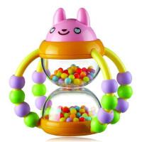 澳贝花篮沙漏婴儿摇铃0-3-6-12个月新生儿幼儿手摇铃宝宝玩具1岁
