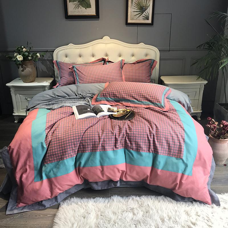 君别秋冬加厚保暖磨毛四件套1.8m床2.0米双人床上用品冬季  2m床(适合被芯220*240) 四件套 床单款