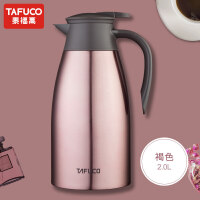 [当当自营]日本泰福高不锈钢保温壶家用热水瓶暖水壶超大容量开水壶保温瓶2LT1301 褐色