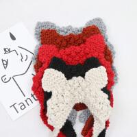 时尚ins毛线耳罩女冬季保暖可爱猫耳朵耳暖韩版复古针织系带耳包耳套
