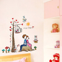创意情侣树 可移除墙贴 卧室浪漫客厅电视背景墙装饰床头贴画