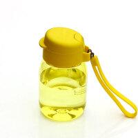 特百惠新品 嘟嘟企鹅杯350ML随手杯便携防漏迷你学生儿童塑料水杯 黄色