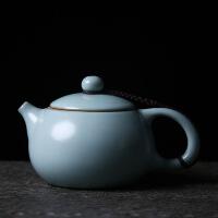 【家装节 夏季狂欢】汝窑茶壶 陶瓷功夫茶具泡茶器大号手工汝瓷开片可养单壶西施壶