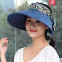 卷边帽子遮阳帽时尚女凉帽户外百搭防晒可折叠中年韩版妈妈大沿帽
