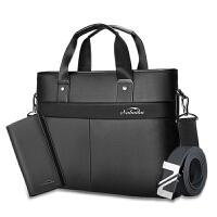 男包公文包男士包包 商务手提包横款 单肩包斜挎男休闲背包