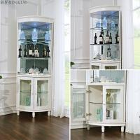 酒柜现代简约 多功能客厅储物转角置物展示柜 墙角柜三角柜 双门