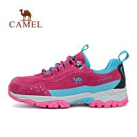 【满259减200元】camel骆驼户外女款徒步鞋 反绒牛皮防滑减震徒步鞋