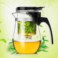 普润 500ml花茶壶飘逸杯 功夫茶具可拆洗内胆泡茶杯水杯茶壶办公杯