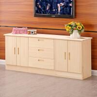 实木电视柜组合卧室电视柜简约客厅储物柜矮柜地柜餐边收纳柜实木 200 40 60白或红 组装