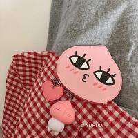 炒鸡可爱零钱包~韩国公交卡包新品爱心少女心PU卡包硬币包小 屁桃君 +玩偶钥匙扣