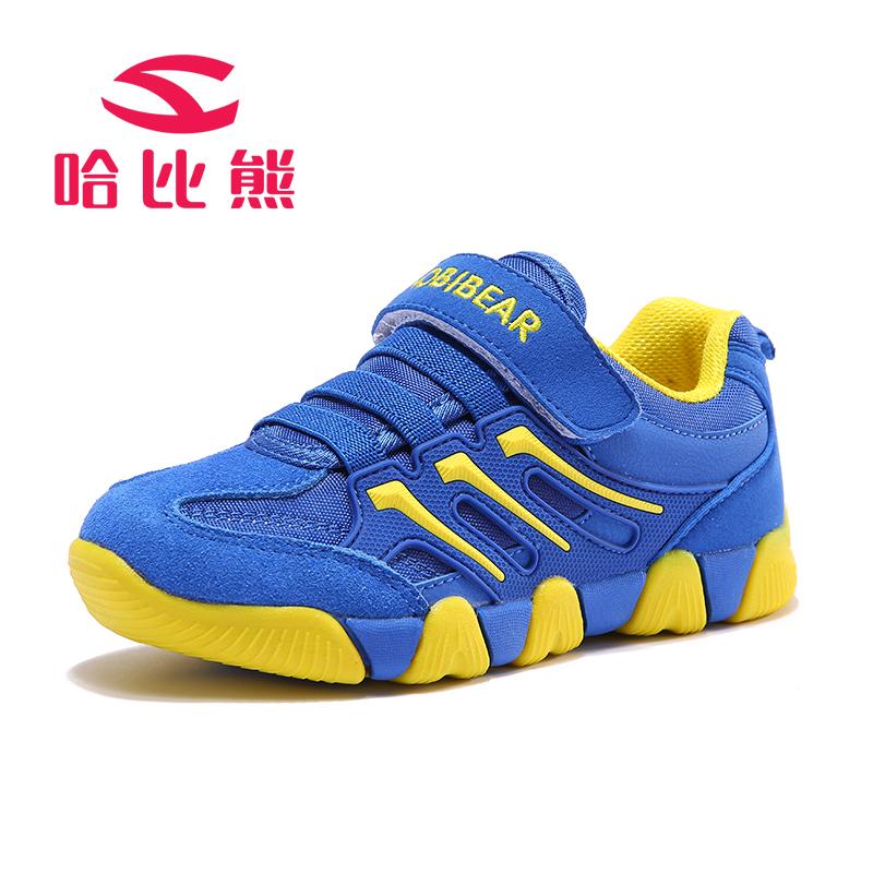哈比熊童鞋男童休闲鞋子春秋新款儿童学生女童中大童运动鞋潮