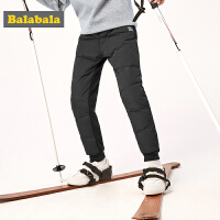 巴拉巴拉男童加绒裤子2019新款冬装中大童羽绒裤你们儿童长裤时尚