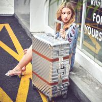新款万向轮铝框拉杆箱24寸皮箱男女旅行箱行李箱26寸硬箱登机箱20
