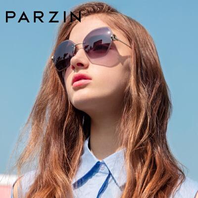 帕森新品太阳镜女不规则潮人墨镜加厚尼龙镜片驾驶镜 多边无框设计 时尚新潮不止一点点